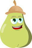 Pear wearing scout or explorer hat Stock Photo