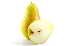 Pear on white background Royalty Free Stock Image