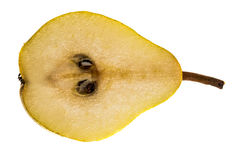 Pear Williams half Royalty Free Stock Images