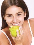 Pear woman. Stock Photo