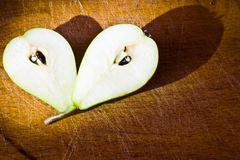 Pear on the wood table Royalty Free Stock Photos