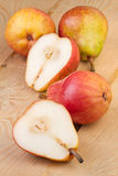Pear on wooden background Royalty Free Stock Photography