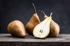 Pear. On a wooden board Stock Image