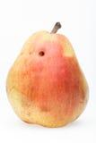 Pear with worm hole Stock Photos