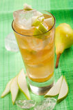 Pear, yellow drink Stock Images
