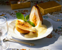Pear and Zabaione Royalty Free Stock Photos