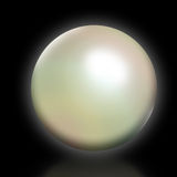 Pearl. An illustration of a pearl on a black background Stock Images