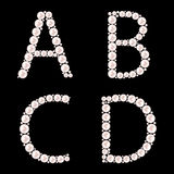 Pearl ABC vector illustration Royalty Free Stock Image