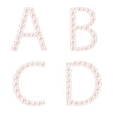 Pearl ABC Vector Illustration Stock Photos