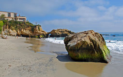 Pearl (Arch) Street Beach, Laguna Beach,California. Pearl Street Beach (Arch Cove) is a picturesque beach found at the base of Pearl Street in South Laguna Beach Stock Photo