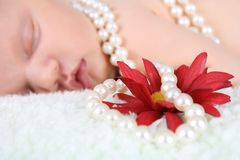 Pearl Baby Royalty Free Stock Photo