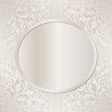 Pearl background. With ornaments - vector illustration Stock Images