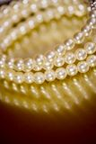 Pearl bangle. Close-up of beauty pearl bracelet Stock Photos