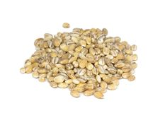 Pearl barley. Isolated on white Royalty Free Stock Images