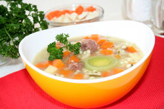 Pearl barley. Stew with parsley and vegetables stock photos