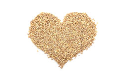 Pearl barley in a heart shape Royalty Free Stock Images