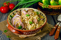 Pearl barley with meat Royalty Free Stock Photos