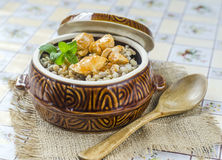Pearl barley porridge Royalty Free Stock Image