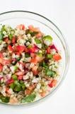 Pearl barley salad royalty free stock photos