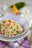 Pearl barley salad Royalty Free Stock Image