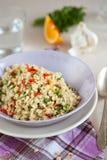 Pearl barley salad royalty free stock image