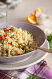 Pearl barley salad Royalty Free Stock Images