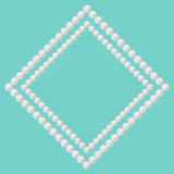 Pearl bead frame Royalty Free Stock Images