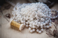 Pearl Bead making accessories for decor Stock Photos