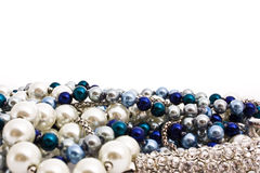 Pearl beads Stock Photos