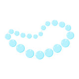 Pearl beads. Blue vector valentine Stock Images