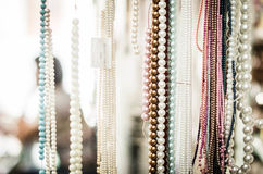Pearl Beads. Close up shot Stock Image