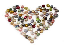 Pearl beads heart Stock Photo