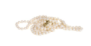 Pearl beads Royalty Free Stock Photos