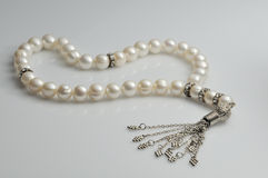Pearl beads rosary Royalty Free Stock Image
