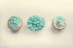 Pearl birthday cupcake with butter cream icing Stock Photography