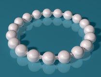 Pearl Bracelet. Original illustration of an elegant high class pearl bracelet Royalty Free Stock Image