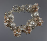 Pearl bracelet Royalty Free Stock Photos