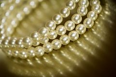 Pearl bracelet. Close-up of vintage pearl bracelet Stock Photography