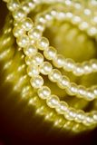 Pearl bracelet. Close-up of vintage pearl bracelet Royalty Free Stock Photo