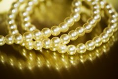 Pearl bracelet. Close-up of vintage pearl bracelet Stock Images