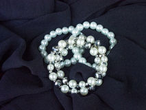 Pearl Bracelet. On Black Background Royalty Free Stock Photos