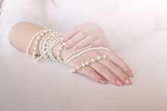 Free Pearl Bracelets. Royalty Free Stock Photos - 37393258
