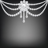 Pearl brooch decoration Royalty Free Stock Photo