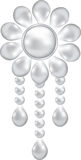 Pearl brooch Stock Image