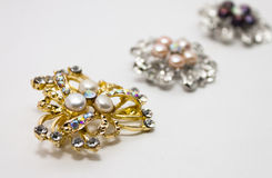 Pearl brooches Royalty Free Stock Photos