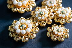 Pearl buttons Stock Image