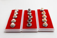 Pearl buttons Royalty Free Stock Images