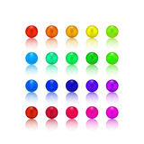 Pearl, candy colorful set. Latest vector set of colorful pearls different 20 colors special for your decoration the main colors are red, orange, yellow, green stock illustration