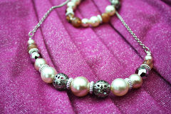 Pearl chain Stock Photography