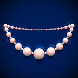 Pearl chaplet against dark background Stock Image